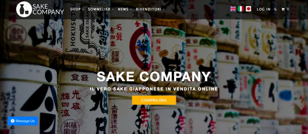 sake company ecommerce nihonshu