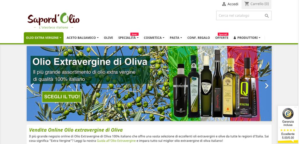 olio EVO ecommerce sapordolio