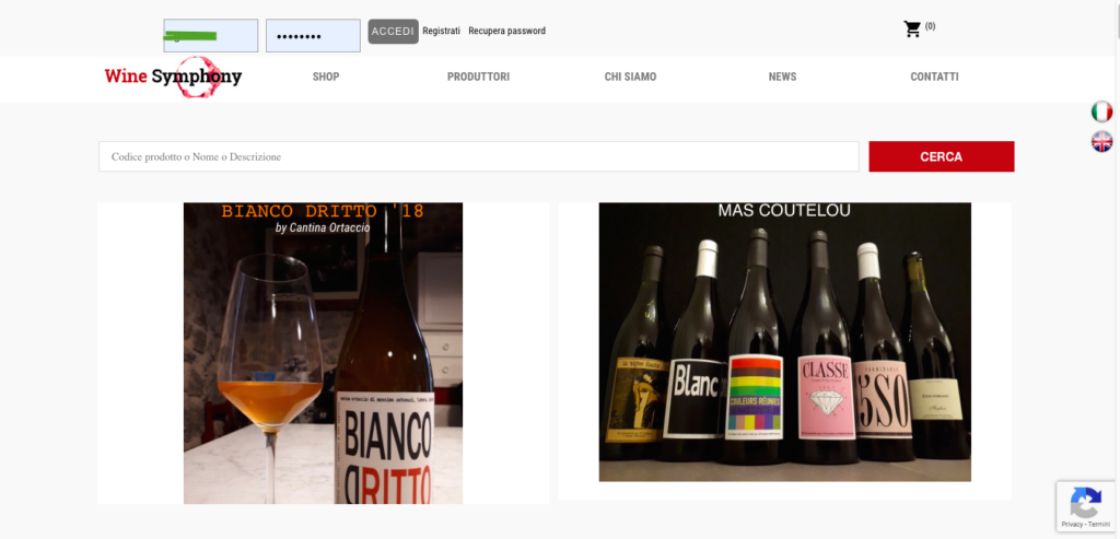 vini ecommerce wine symphony